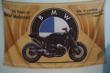BMW Bike 2013 90 years of Motorrad Flag Banner Garage Man Cave 5x3 Feet