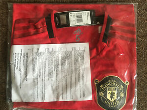MANCHESTER UNITED PLAYER ISSUE ADIDAS HOME SHIRT 2019/20 SIZE 5 BRAND NEW