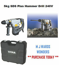 Titan TTB631SDS 5kg SDS Plus Hammer Drill 240V ** PURCHASE YOURS TODAY **