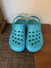 crocs Like Shoes Size 8 Turquoise Blue