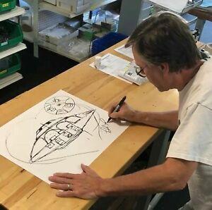 Bob Lazar Sport Model Sketch UFO Area 51 Signed Limited Rare Sold Out