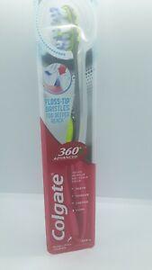 Colgate 360 Advanced Floss Top Bristles For Deeper Reach Toothbrush