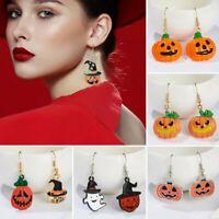 Hot Halloween Pumpkin Witch Ghost Devil Hook Drop Dangle Earrings Gifts Jewelry