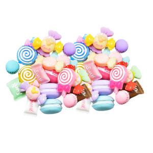 40x Kawaii Flatback Resin Cabochon Sweets DIY Phone Case Embellishment Craft