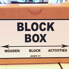 Block Box!   Colored Wooden blocks with activities included.  Patterns, etc.