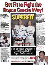 Royce Gracie Signed 8x10.5 Magazine Ad Photo BAS Beckett COA UFC Pride Jiu-Jitsu