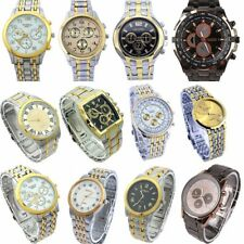 10pcs Mixed Men Business Watch Luxury Golden Dress Sport Fashion Wristwatch NGT