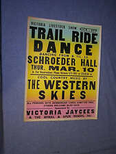 Original COLORCRAFT 1977 SCHROEDER HALL Trail Ride Dance W/WESTERN SKIES Jaycees