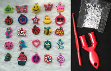 12pc Loom Rubber Bands Charms Bracelet Making Crafts Pendant Tools And S-clip