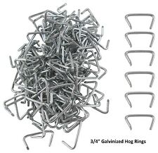 "ION TOOL Galvanized 3/4"" Hog Rings, 500 Pack"