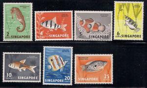 Singapore   1962   Sc # 53-59   Fishes   MNH   (8009-4)