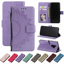 For Samsung Galaxy S10/S9+/Note 9/8 Flip Leather Wallet Stand Flower Case Cover