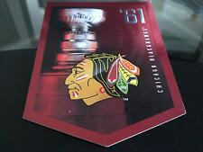 CHICAGO BLACKHAWKS STANLEY CUP BANNER 1961 GREAT CONDITION FREE COMBINED S&H
