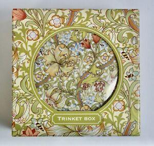 "Wiliam Morris Pattern ""Golden Lily"" Ceramic Trinket Pot, Boxed"