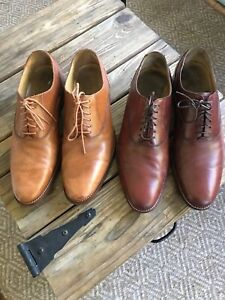 Lot Of 2 Men's Cole Haan Size 10.5 M Plain Toe Burgundy And Tan