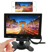 """9""""IPS LCD Car Monitor HD 1024×600 Screen AV Wireless Sync for Android IOS iPhone"""