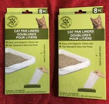 """2 Boxes Large Cat Pan Litter Box Liner Bags, 16 ct. 31"""" X 14"""" Inches"""