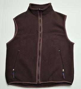 Vtg Layers Polartec Fleece Vest Size M Brown Unisex Full Zip Pockets