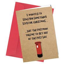 #373 CHRISTMAS CARD Rude Greeting Card funny humour joke Cheeky Love Xmas