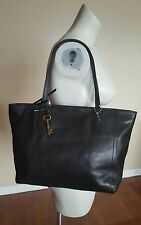 BLACK Leather FOSSIL EMMA TOTE Bag Purse $198.00 ZB6844