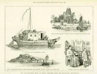 1891 - Antique Print CHINA Anti-European Riots Missionary Settlements  (020)