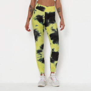 Womens anti cellulite leggings - tie dye - butter soft - honeycomb - breathable