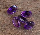 5 PC OVAL CUT SHAPE NATURAL AMETHYST 6x4MM FACETED LOOSE GEMSTONES