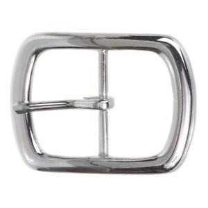 "1 1/2"" (38 mm) Nickel Free Center Bar Single Prong Rectangular Belt Buckle"