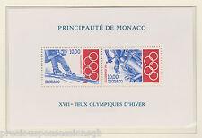 Neuf sans charnière JEUX OLYMPIQUES TIMBRE FEUILLE LILLEHAMMER Jeux Olympiques de 1994 MONACO MS2174