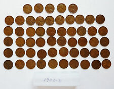 50 COIN ROLL ~ 1932-D LINCOLN PENNIES (+ 5 EXTRA) ~ AVERAGE CIRCULATED CONDITION