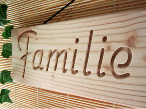 Holzschild, Schild mit persönlicher Gravur, Ihr Name, Türschild, Deko, Geschenk