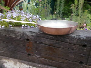 Lovely Stamped Vintage Copper Lined Saute Pan Ref MP/146