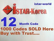 Istar Code Korea 1000 CODES Sold المصدر One Year ONLINE TV email  ثقة ضمان  كود