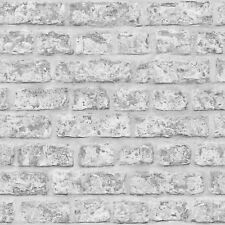 Arthouse Rustic Brick Wall Grey Stone Feature Wallpaper 889606