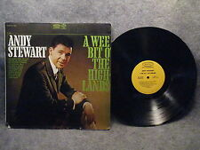 33 RPM LP Record Andy Stewart A Wee Bit O' The Highlands Epic Records BF 19038