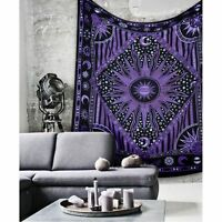 Indian Mandala Tapestry Hippie Wall Hanging Bohemian Bedspread Dorm Decor Throw