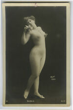 c 1904 French Risque BODY STOCKING NUDE Suit photo postcard