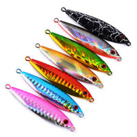 7pcs Metal Jigs Fishing Lures Slow Sinking Jigs for Tuna Snapper King Multicolor