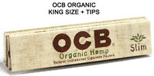 10x Packs OCB Organic Cigarette Rolling Papers Slim King Size + Filters Tips