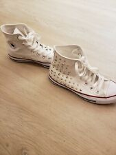 Converse White Studded Sneakers Sz 6