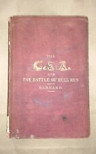 THE CSA AND THE BATTLE OF BULL RUN J. G. Barnard 1862 1st Ed w/ maps free S/H