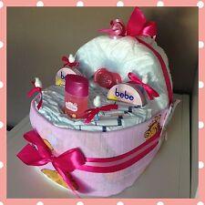⭐️Windeltorte Baby Bettchen⭐️super Geschenk zur Taufe, Geburt oder Babyparty