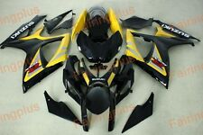 Aftermarket Fairing kits fit for Suzuki gsxr600/750 06-07 2006 2007 yellow black