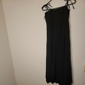 Mr. Buho Women's Dress Size Medium Black Handkerchief Hem Spaghetti Strap Summer