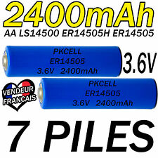 7 PILES ACCUS LITHIUM 3.6V AA ER14505 LS14500 ER14505H Li-socl2 2400Mah BATTERY