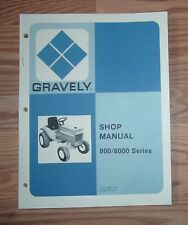 GRAVELY 800, 8000  SERIES SERVICE MANUAL PUBLICATION 16871 (07/79)