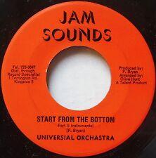 UNIVERSAL ORCHESTRA ~ BUNNY FEILD ~ START from the BOTTOM reggae 45 JAM SOUNDS