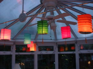 12 CHINESE S 10cm COLOR PAPER LANTERN BIRTHDAY JAPANESE WEDDING PARTY DECORATION