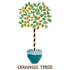Orange Tree Stencil Reusable Template for Canvas Craft Wall Painting Art
