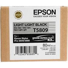 Genuine Epson Pro 3880 T5809 Lt Light black printer ink